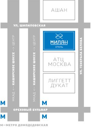 Гостиницы у метро Домодедовская — найдено 2